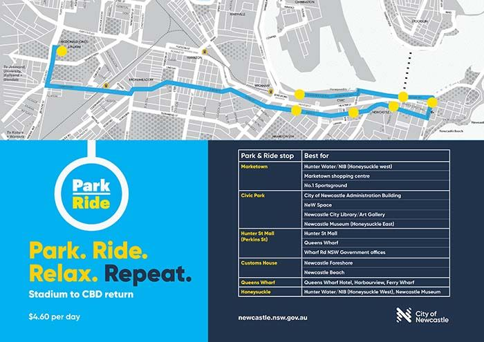 View the Park and Ride map