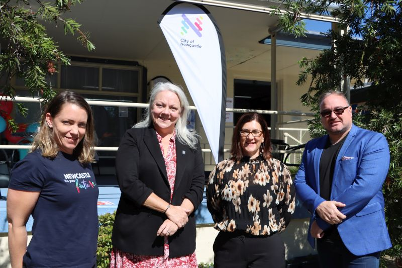City of Newcastle Community Development Facilitator Richelle Hedstrom, Councillor Carol Duncan, Partnership Manager at My Community Directory Rachel Smith and Business Development Manager at Hunter Multicultural Communities Jason Scriven.