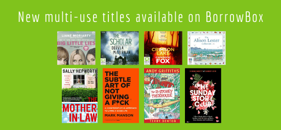 Multi-use titles available on BorrowBox, read now, no waiting!