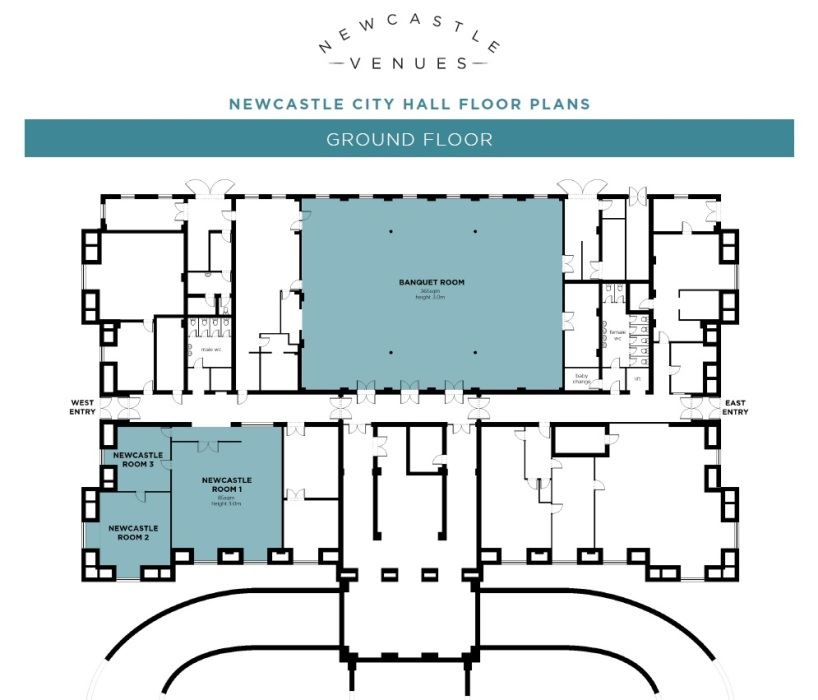 Newcastle City Hall Ground Floor Plan
